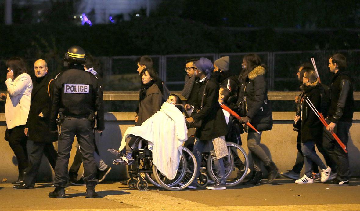 Zranění z pařížského stadionu Stade de France