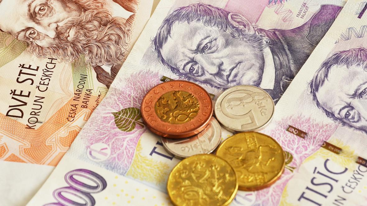 Peníze v české měně