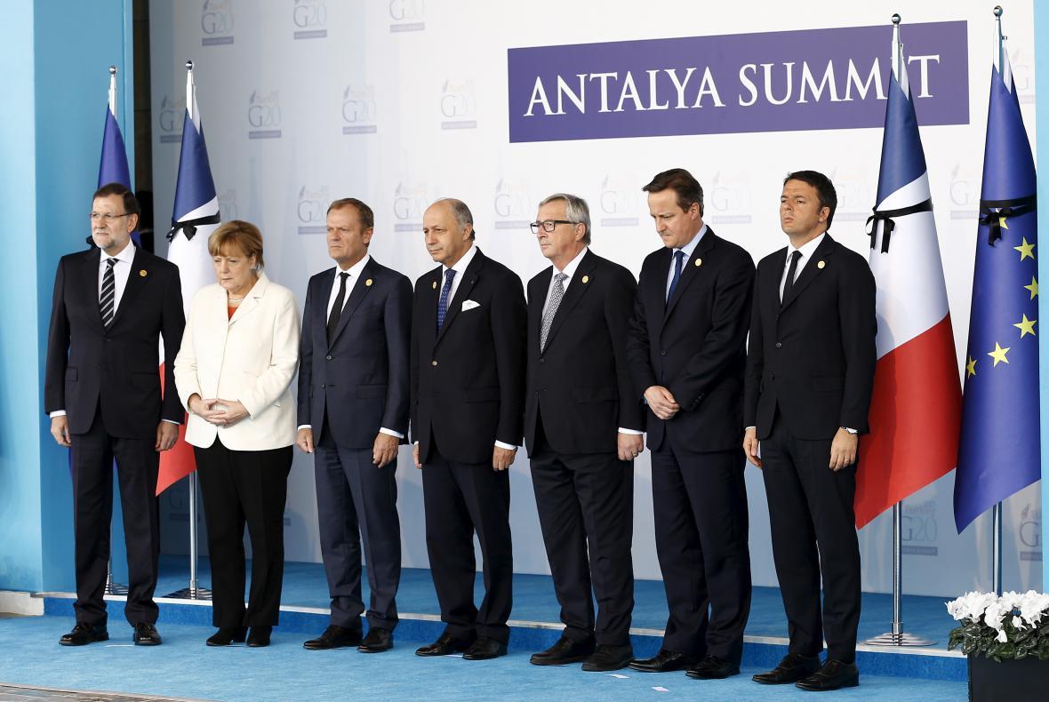 Státníci na summitu G20 v Turecku