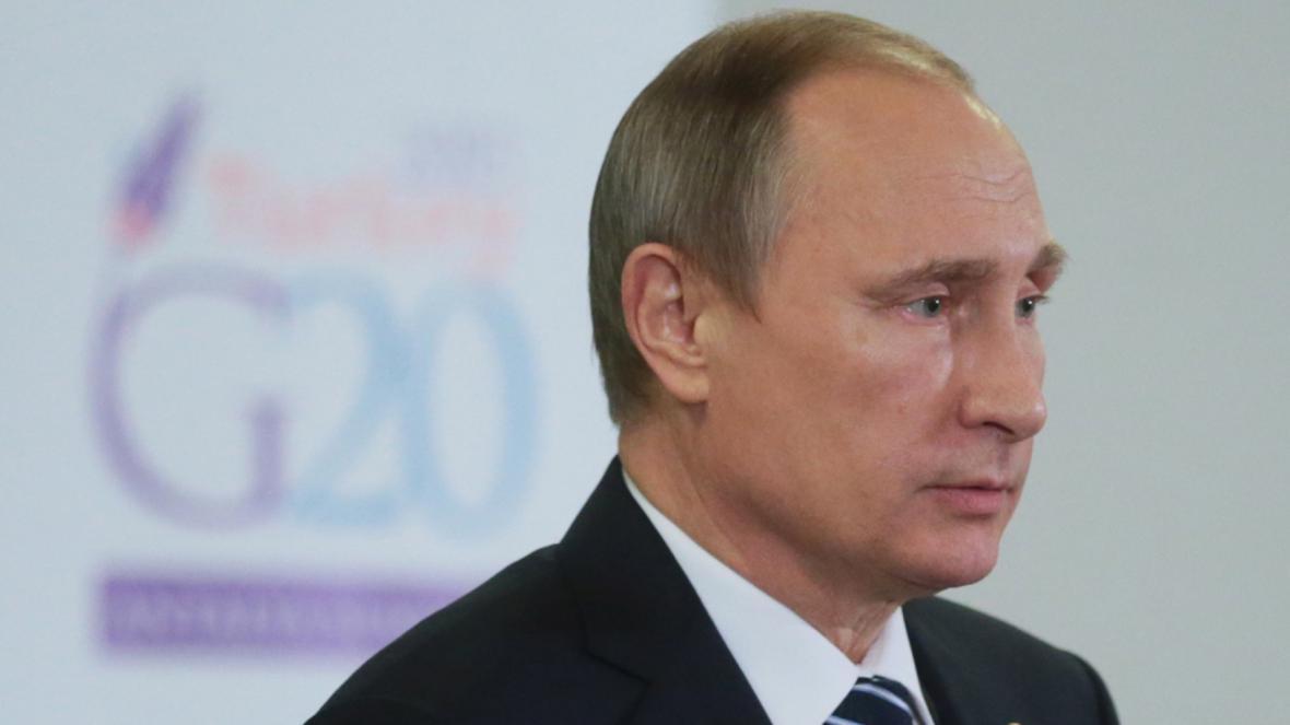Ruský prezident Vladimir Putin na setkání zemí G20