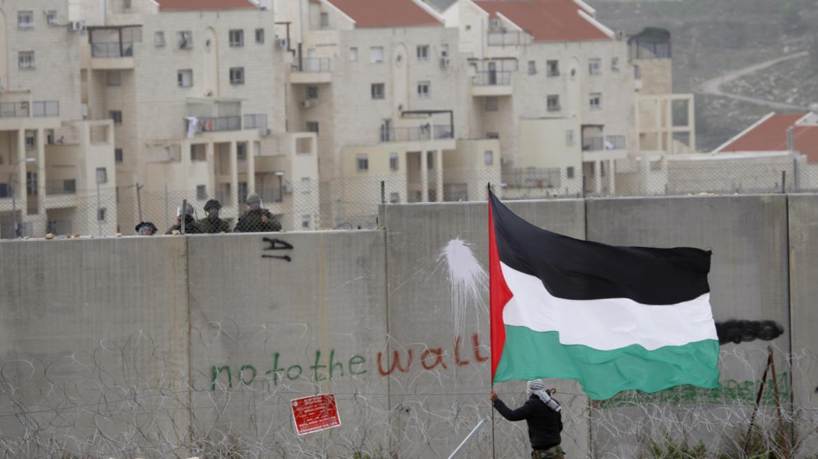 Betonová bariéra v Izraelli