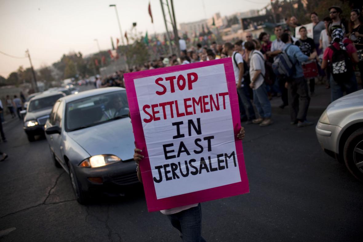 Protest proti židovským osadám