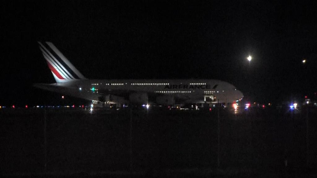 Letoun Air France na letišti v Halifaxu