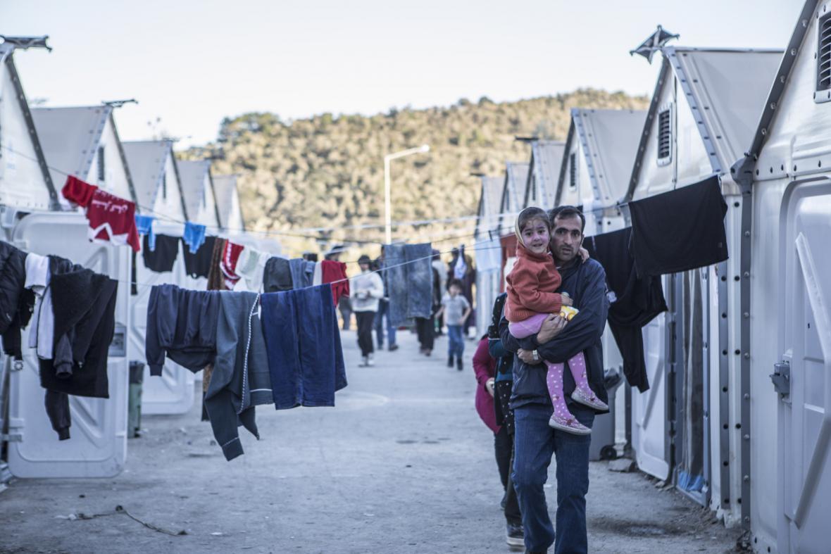 Uprchlický tábor na Lesbu