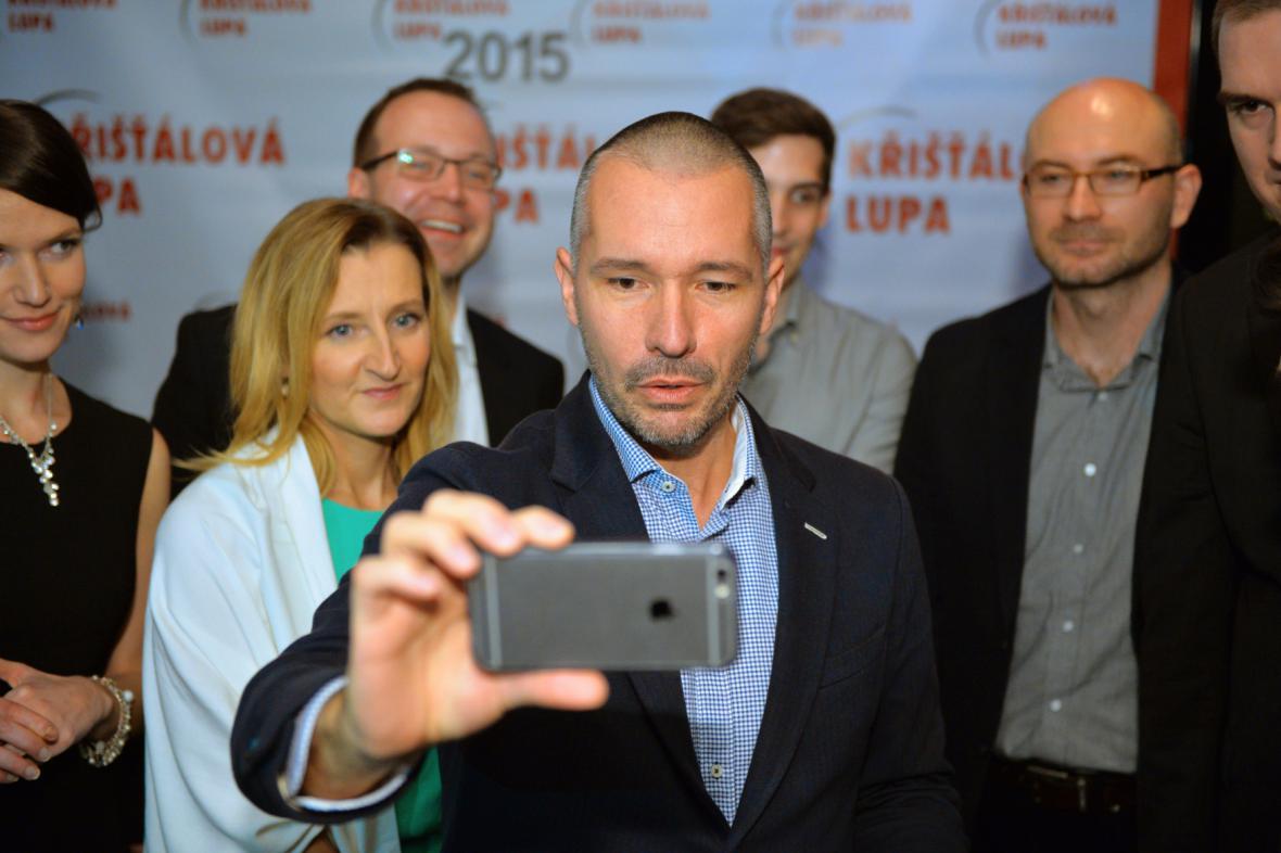 Tým DVTV při vyhlášení Křišťálové lupy 2015