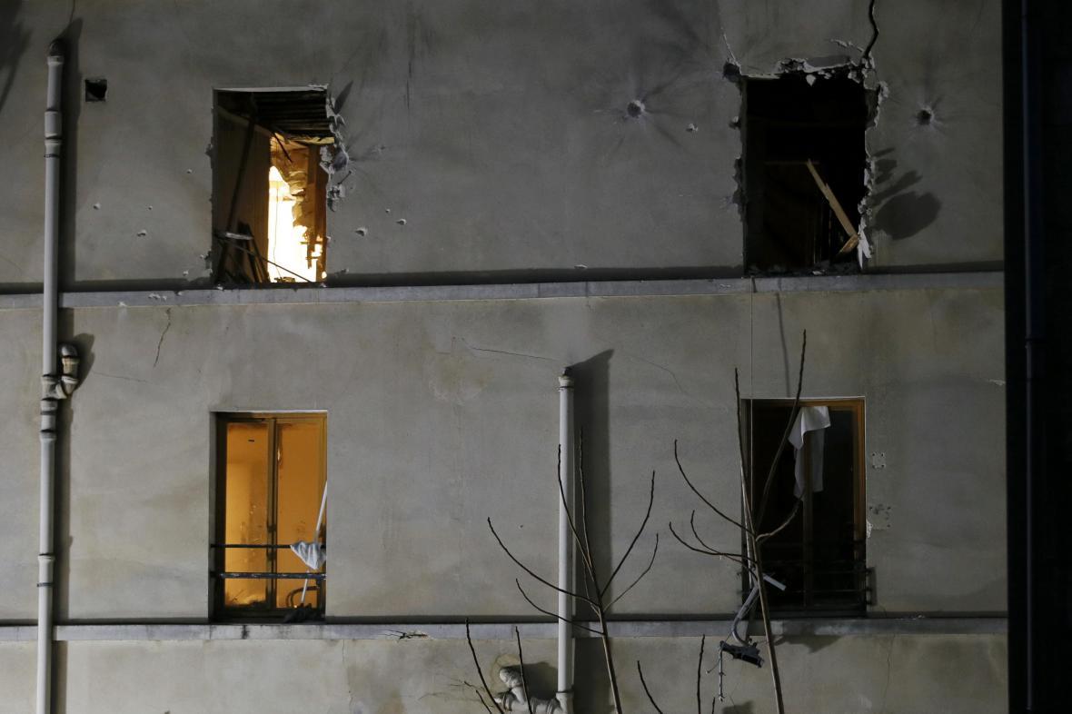 Dům v Saint-Denise, ve kterém se ukrývali džihádisté