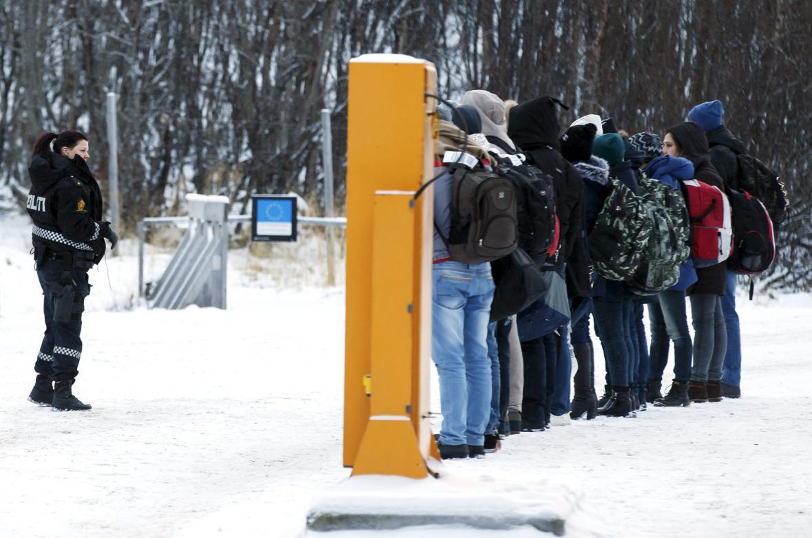 Migranti na norsko-ruské hranici