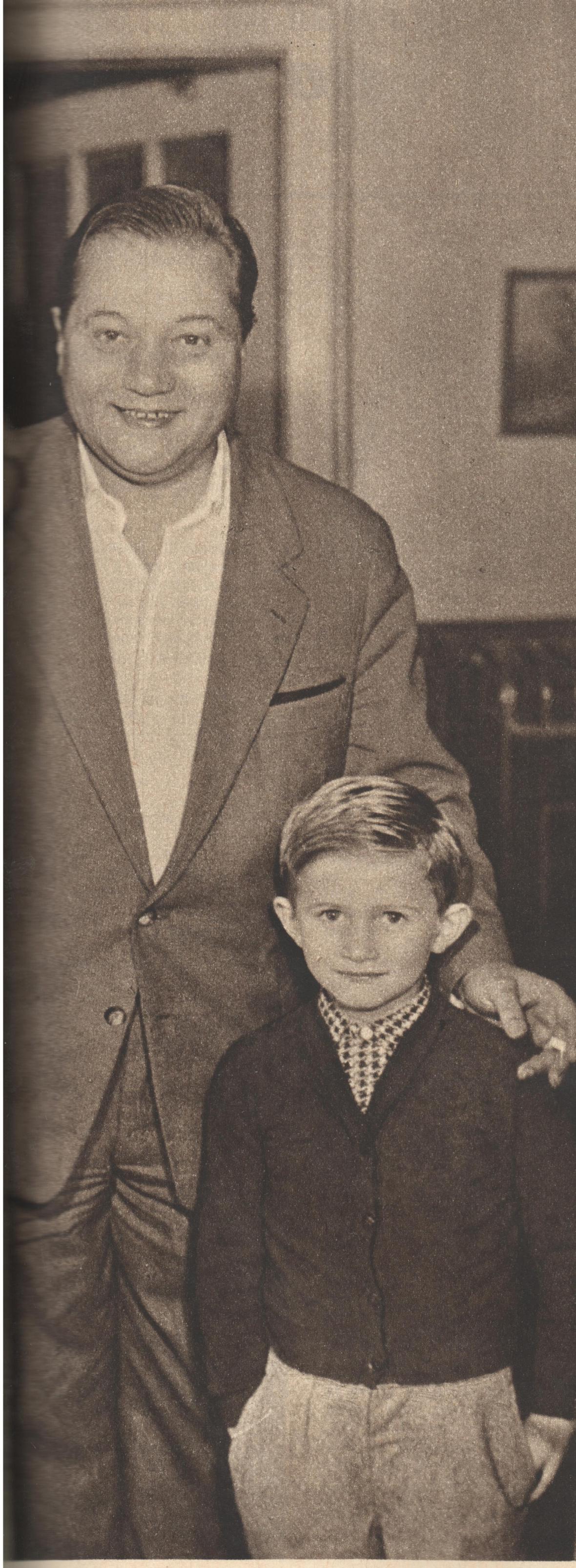 Rudolf Hrušínský se svým synem Janem (1961)