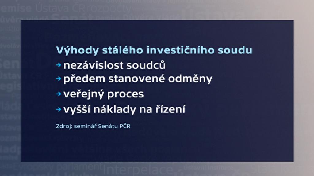 Výhody stálého investičního soudu