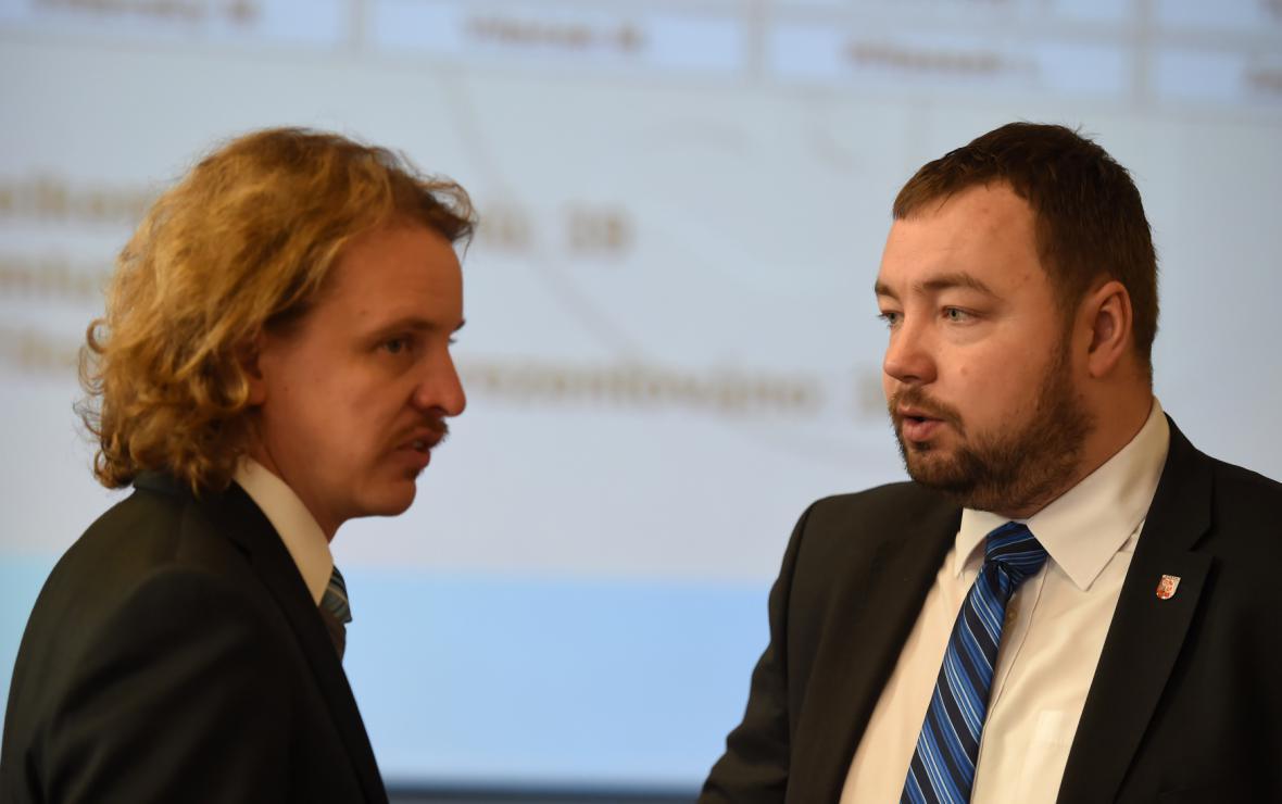 Dalibor Halátek (vlevo) a Martin Víteček