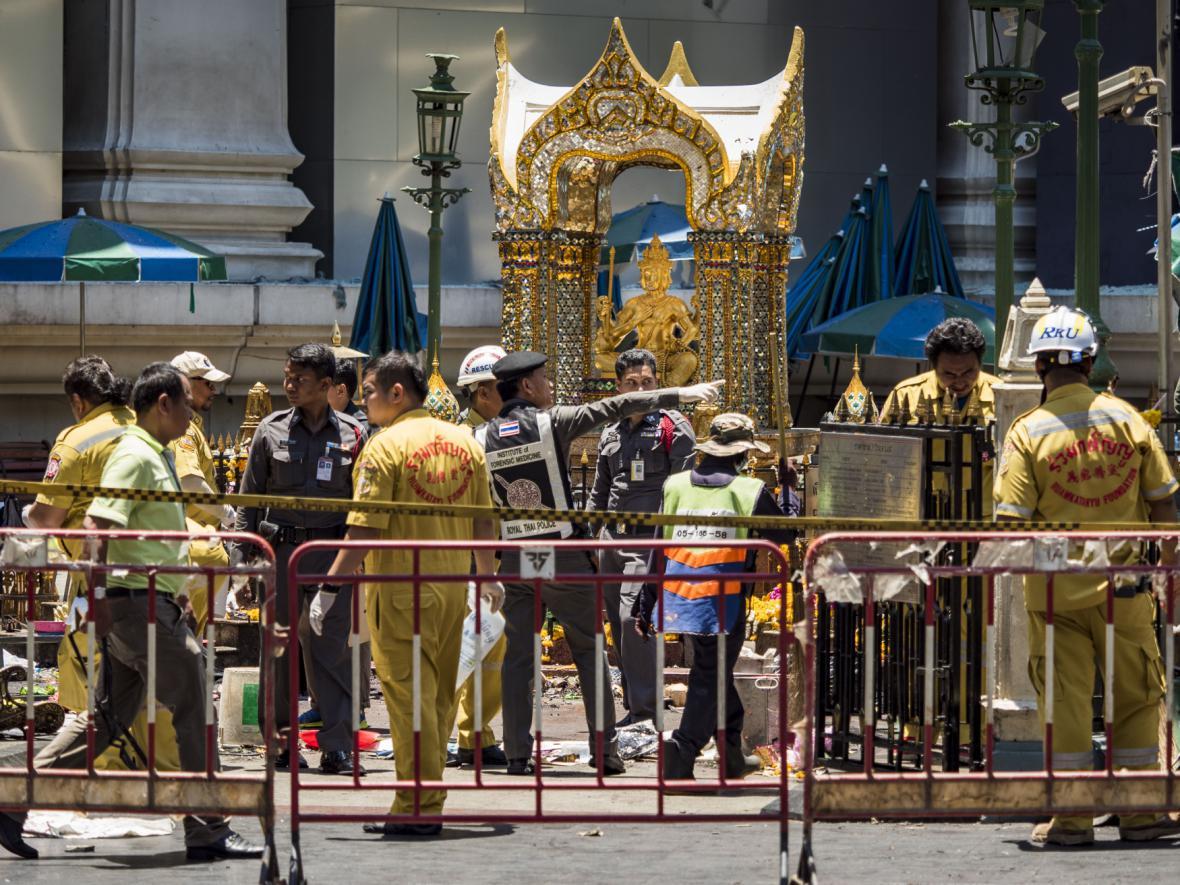 Vyšetřování útoku u svatyně Erawan