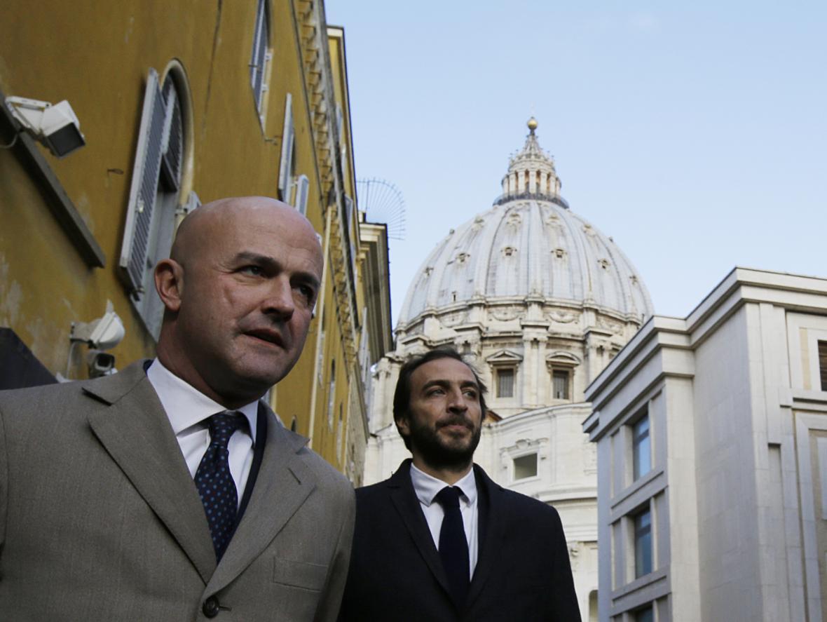 Gianluigi Nuzzi (vlevo) a Emiliano Fittipaldi