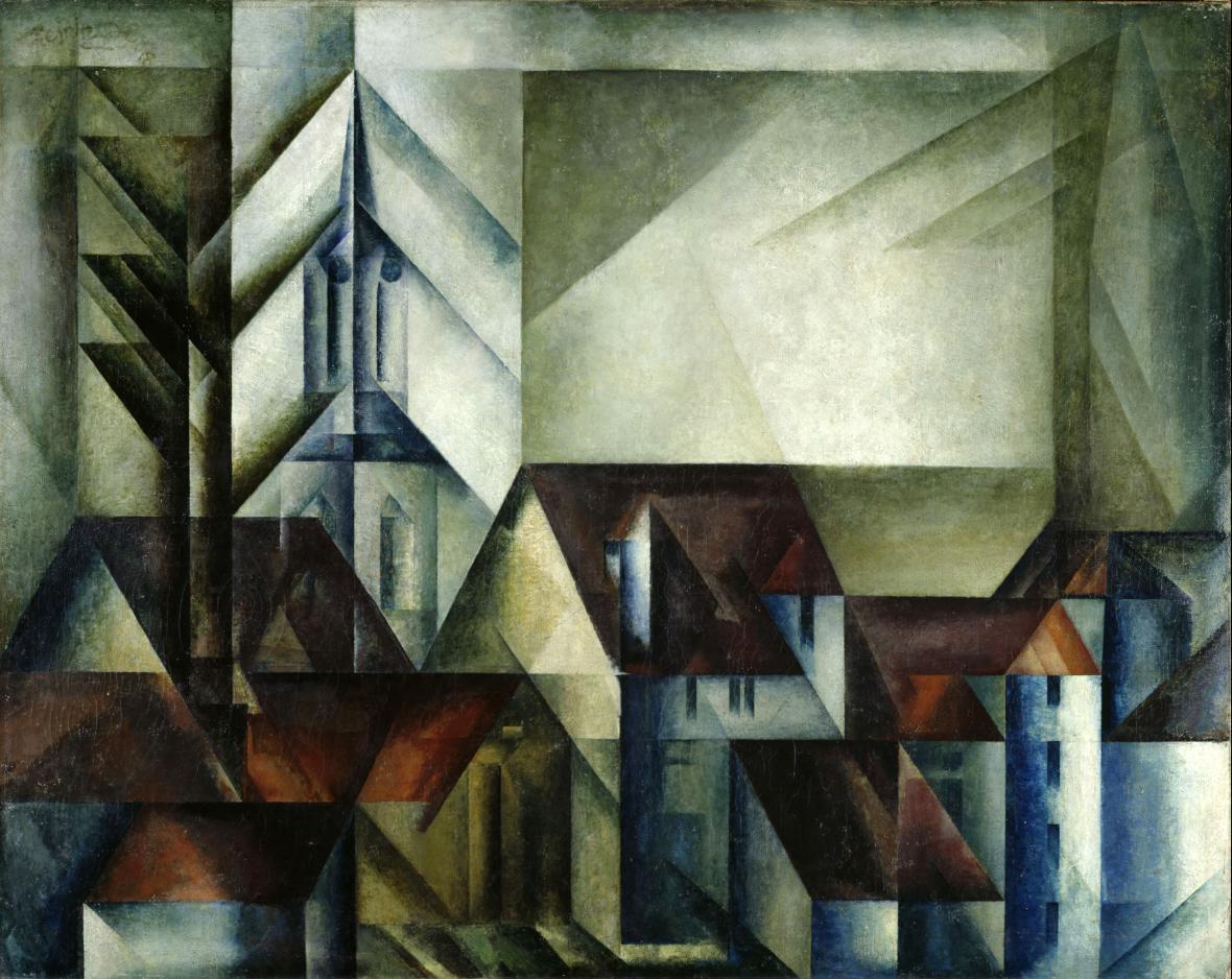 Lyonel Feininger / Teltow II, 1918