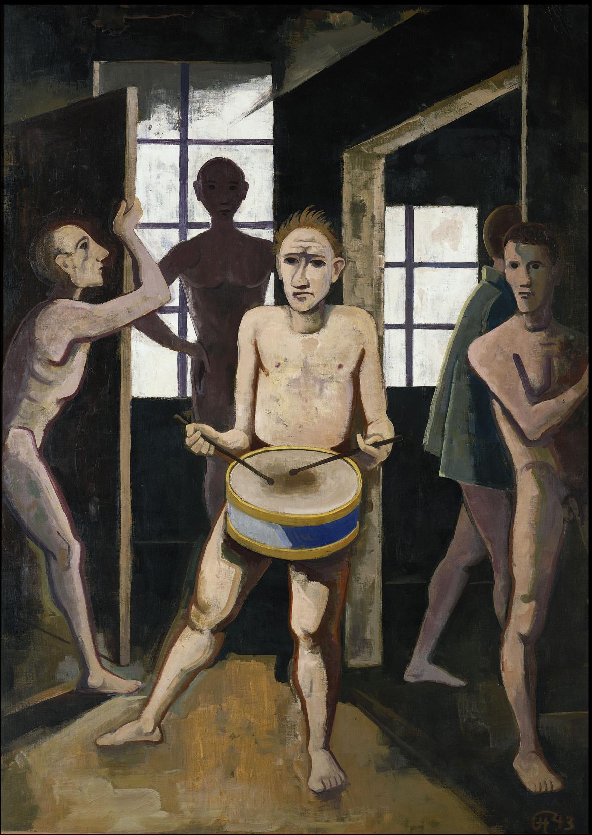 Karl Hofer / Temný pokoj, 1943