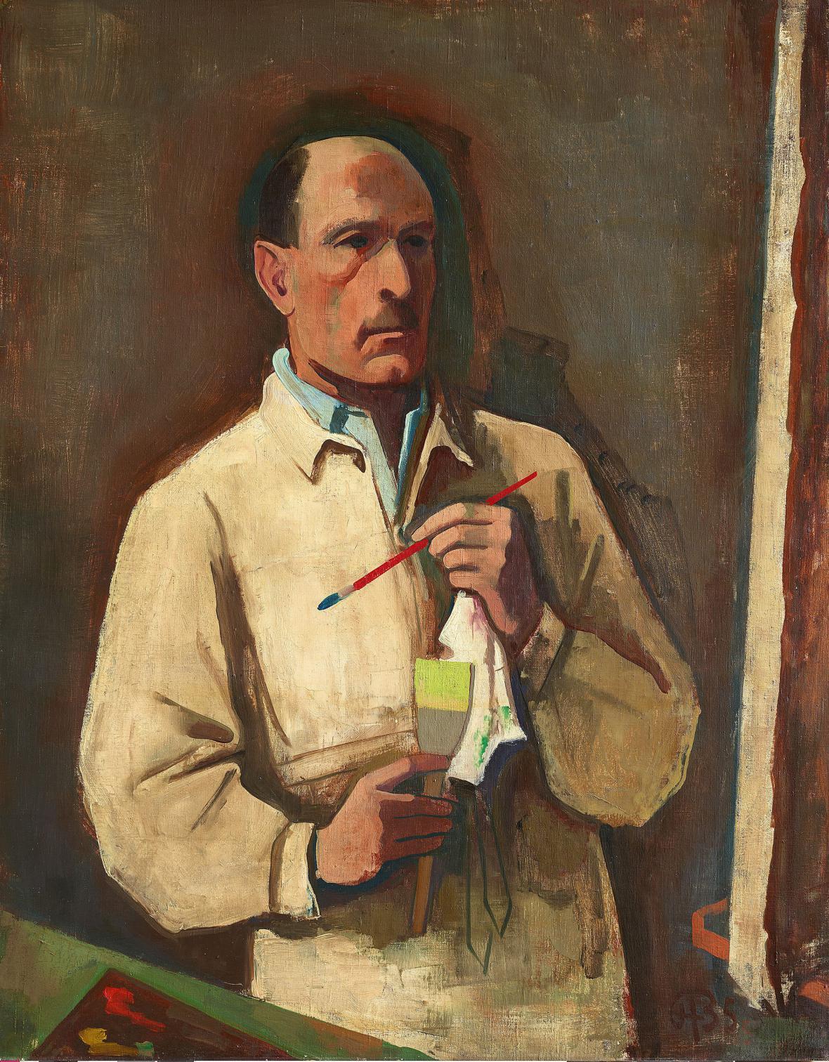 Karl Hofer / Autoportrét, 1935