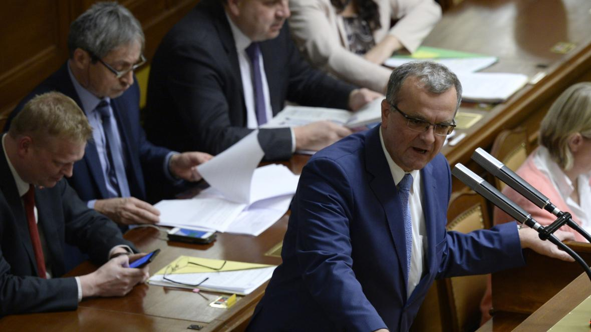 Miroslav Kalousek (TOP 09) ve sněmovně