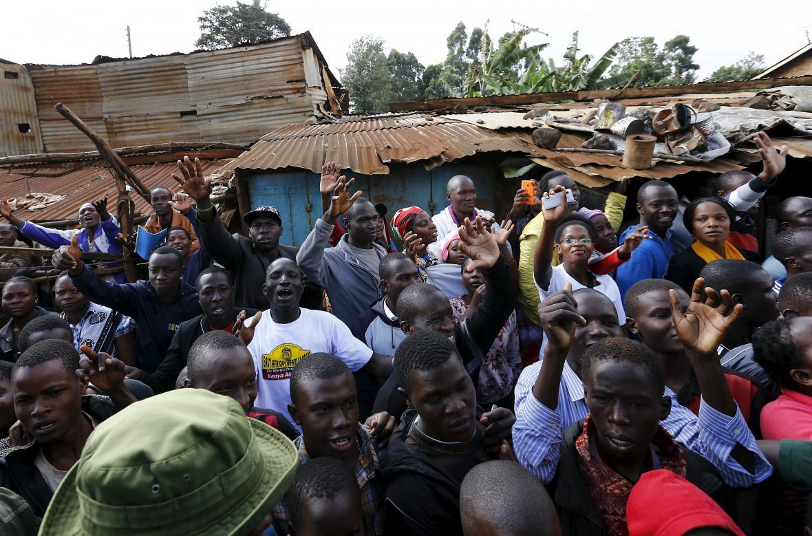 Papež František ve slumu Kangemi