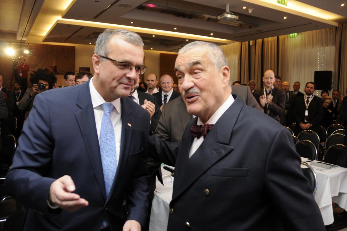 Karel Schwarzenberg a Miroslav Kalousek