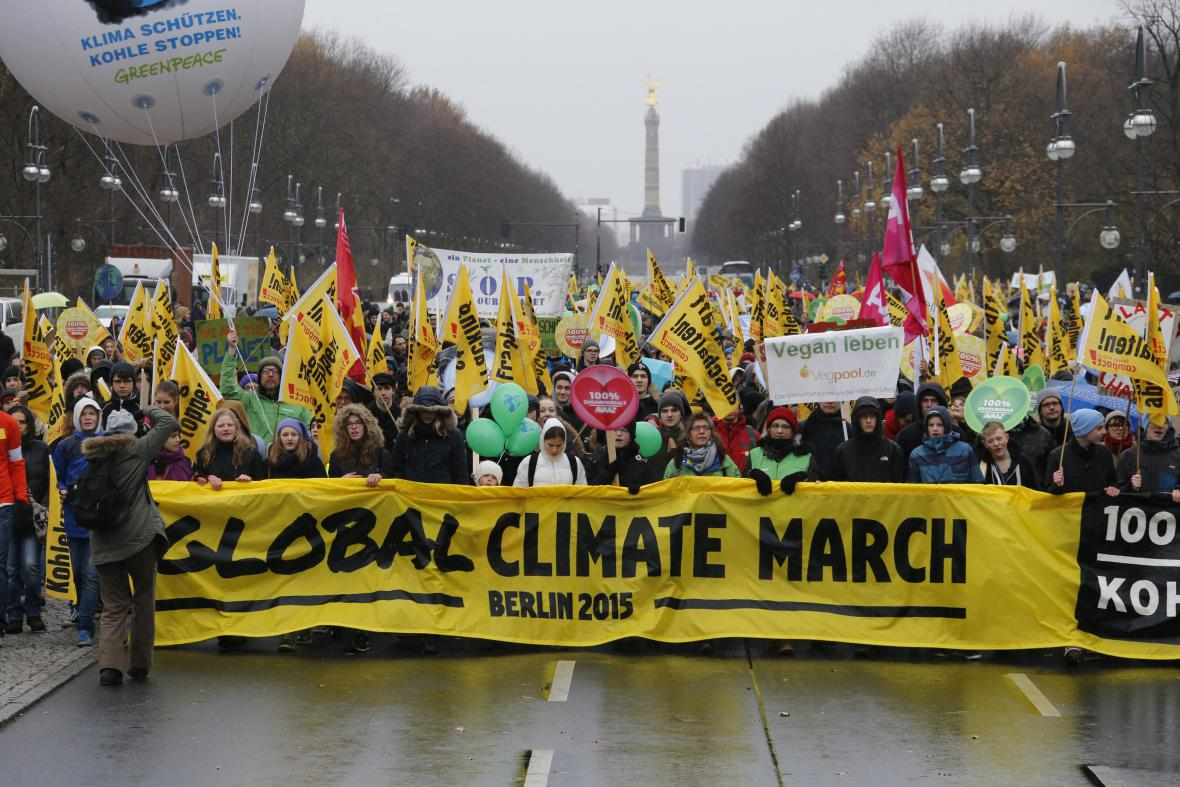 Demonstrace v Berlíně
