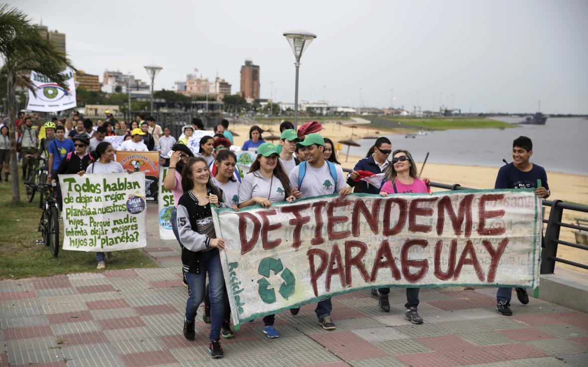 Demonstrace v Paraguayi