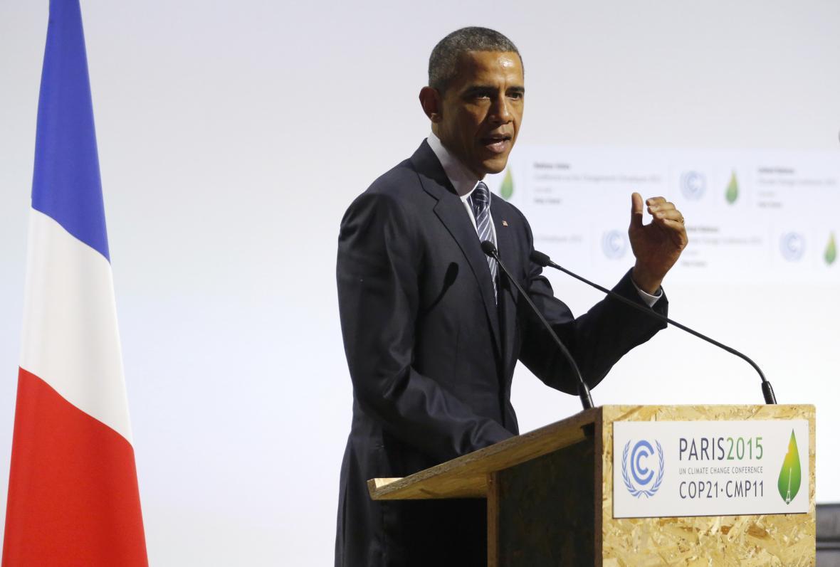 Barack Obama na pařížském summitu
