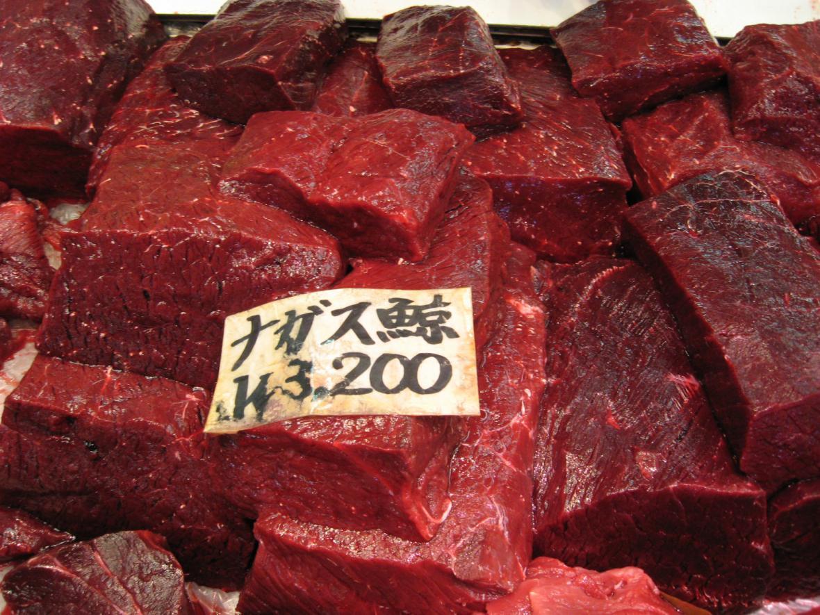 Velrybí maso je žádaným zbožím na japonském trhu