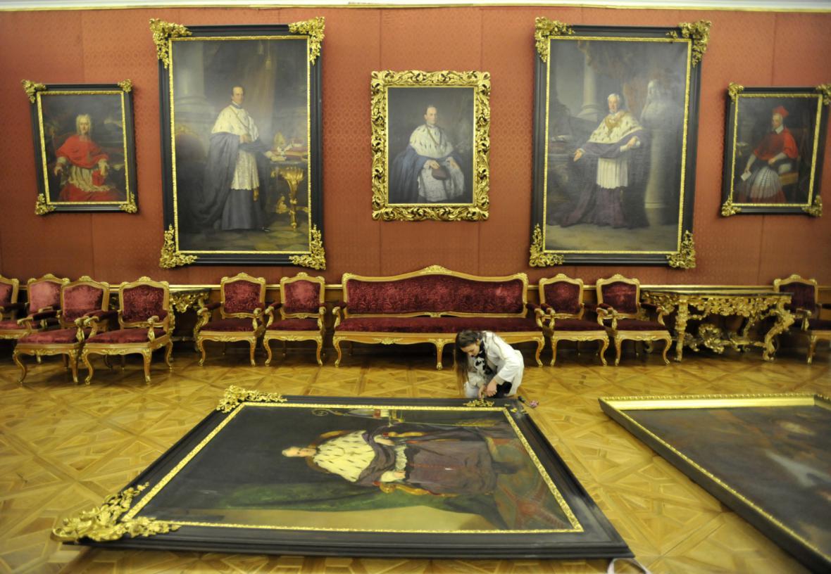 Obrazy kroměřížského zámku čeká restaurování