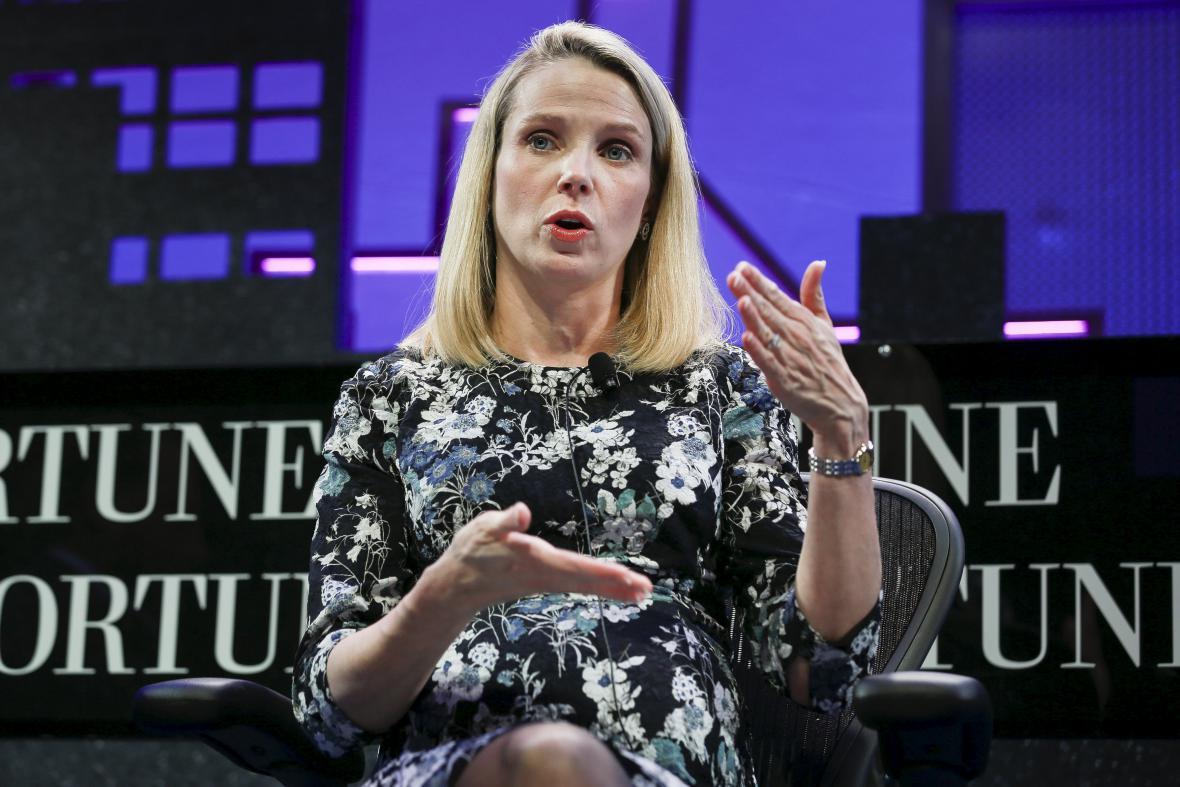 Šéfka firmy Yahoo Marissa Mayer