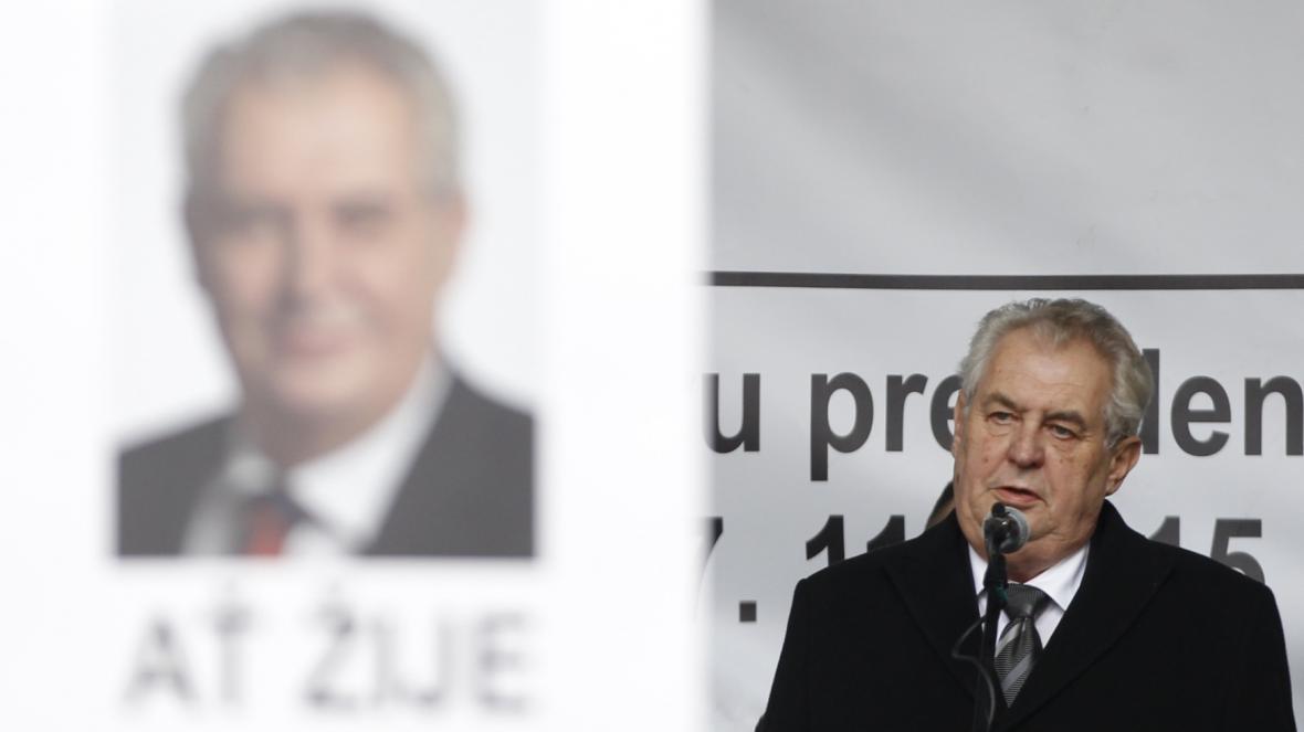 Prezident Miloš Zeman na Albertově