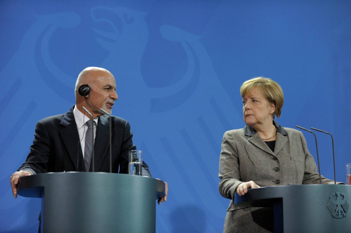Ašraf Ghaní a Angela Merkelová