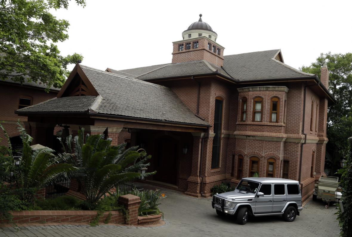 Vila, ve které trávil Pistorius domácí vězení
