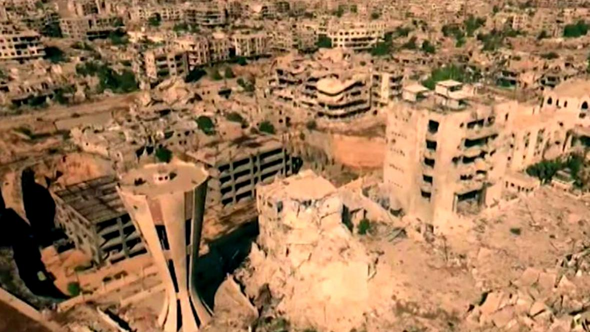 Damašské předměstí Jobar připomíná Stalingrad