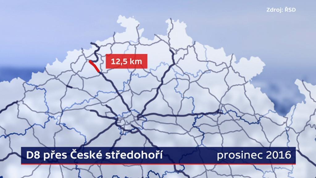 Dostavba D8 přes České středohoří
