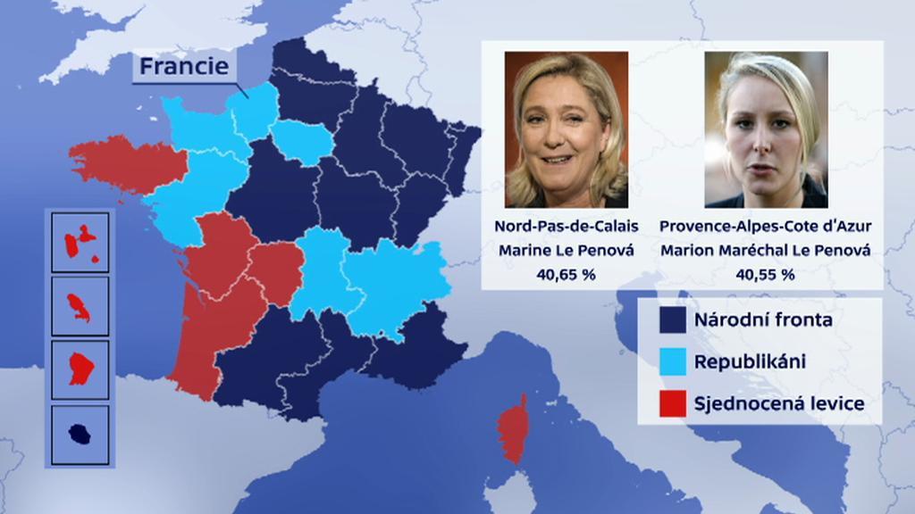 Regionální volby ve Francii - 1. kolo