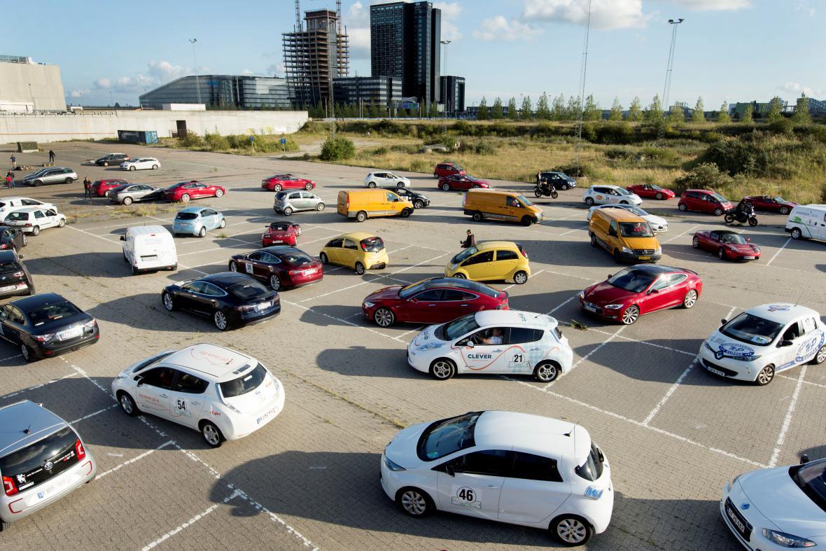 Kodaňská propagační jízda elektromobilů