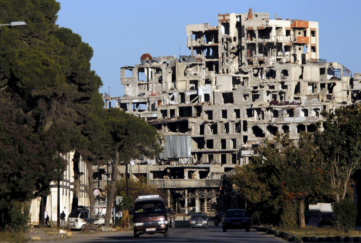 Zničený Homs