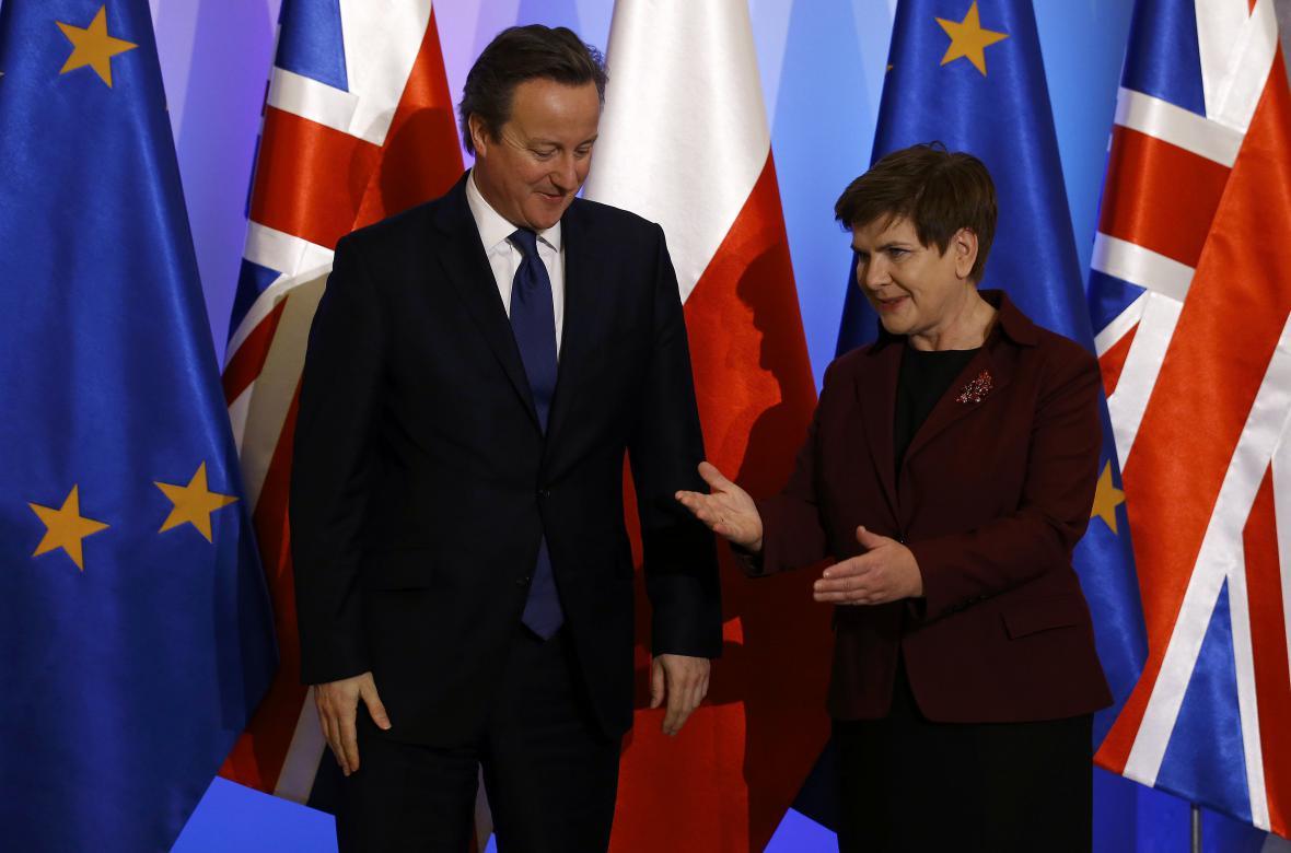 David Cameron a Beata Szydlová