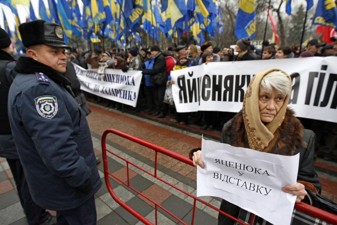 Protest proti ukrajinské vládě