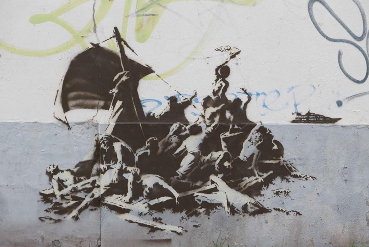 Banksyho dílo v Calais
