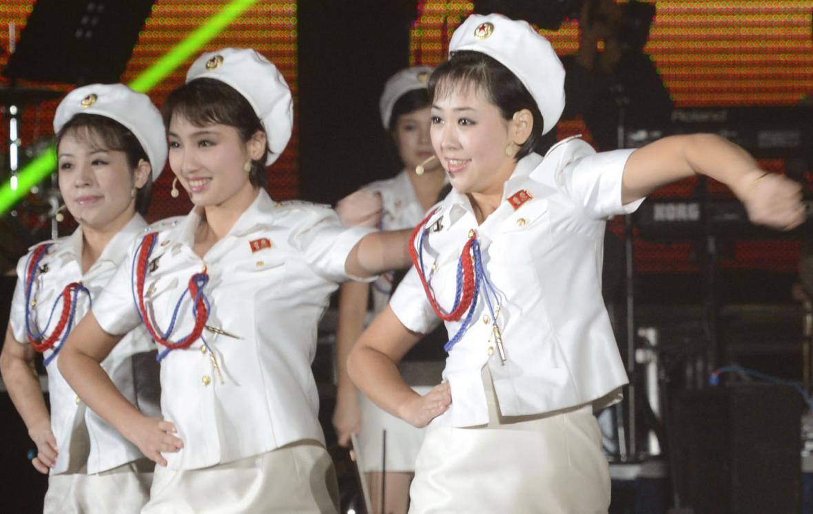 Severokorejská dívčí kapela Moranbong