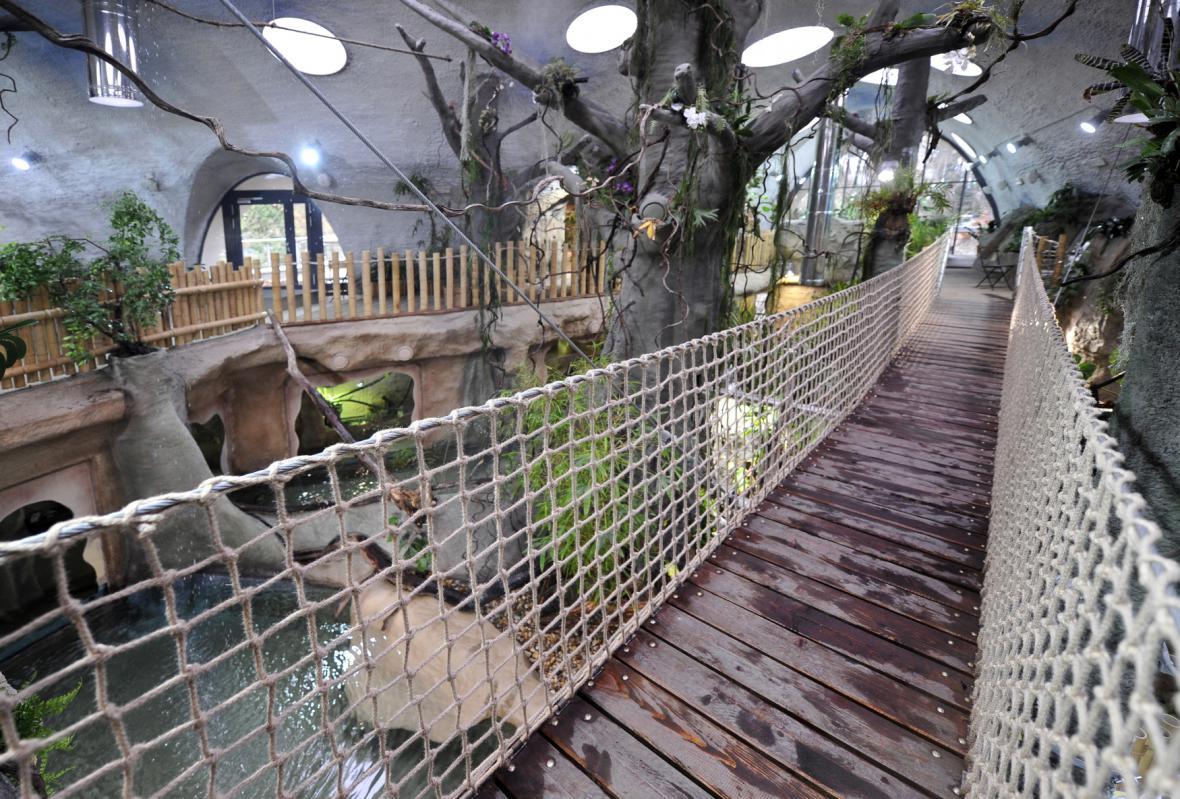 Tropický pavilon v jihlavské zoo