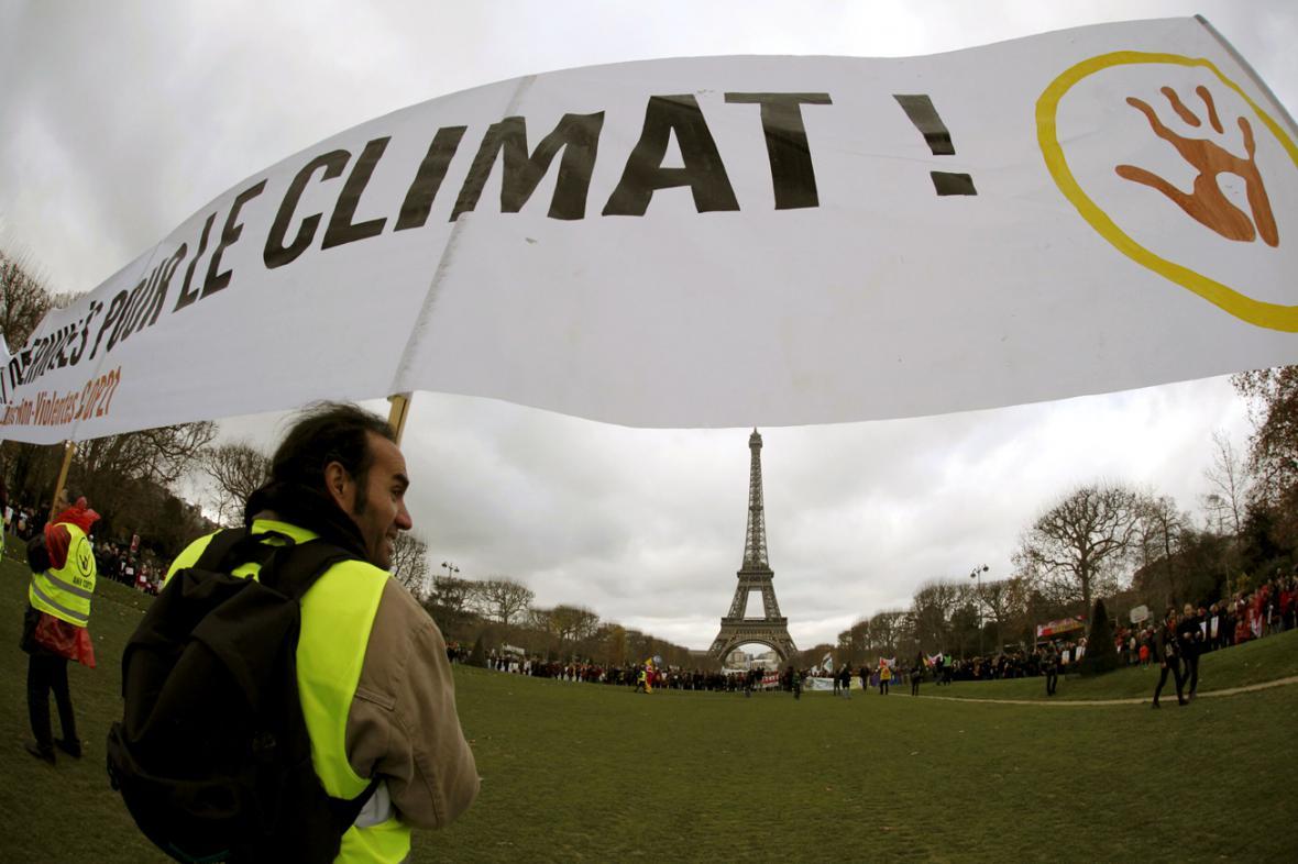 Ekologičtí aktivisté v Paříži