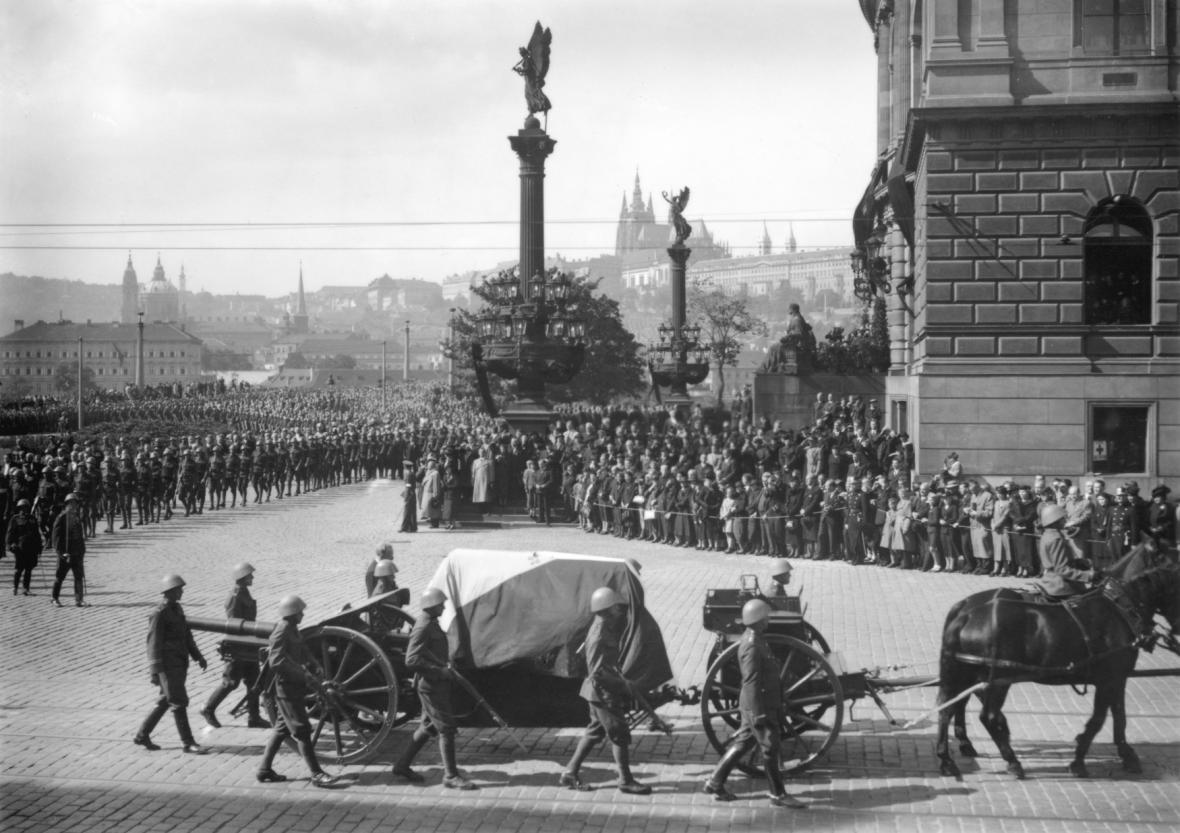 Masarykův pohřeb