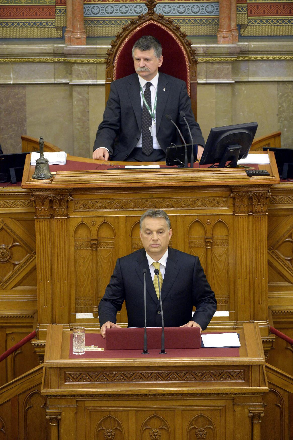 Viktor Orbán a Lászlo Kövér