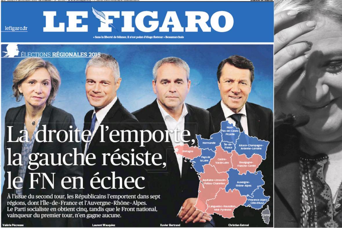 Le Figaro k výsledkům regionálních voleb ve Francii