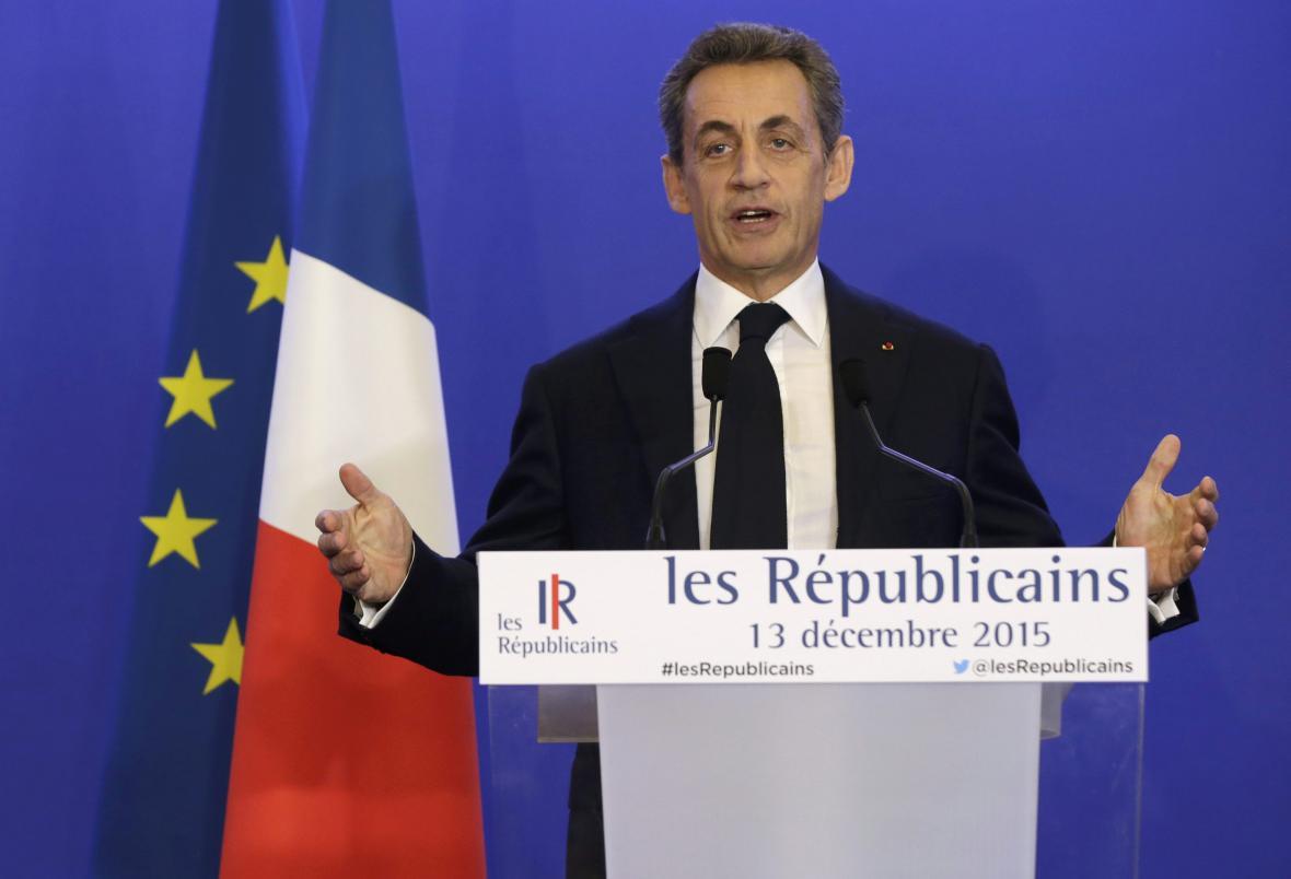 Nicolas Sarkozy po vyhraných regionálních volbách