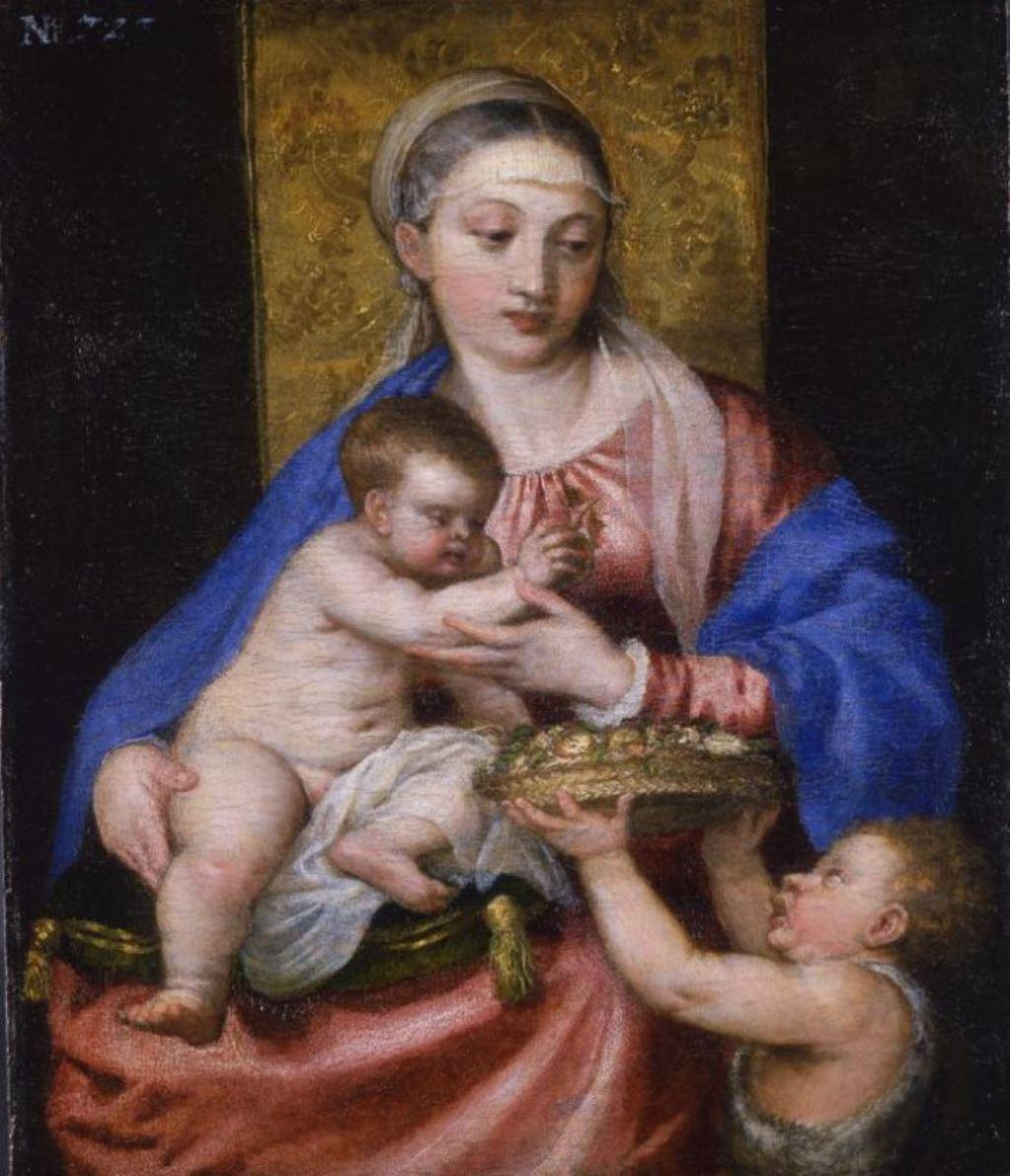 Madona s Ježíškem a s malým Janem Křtitelem