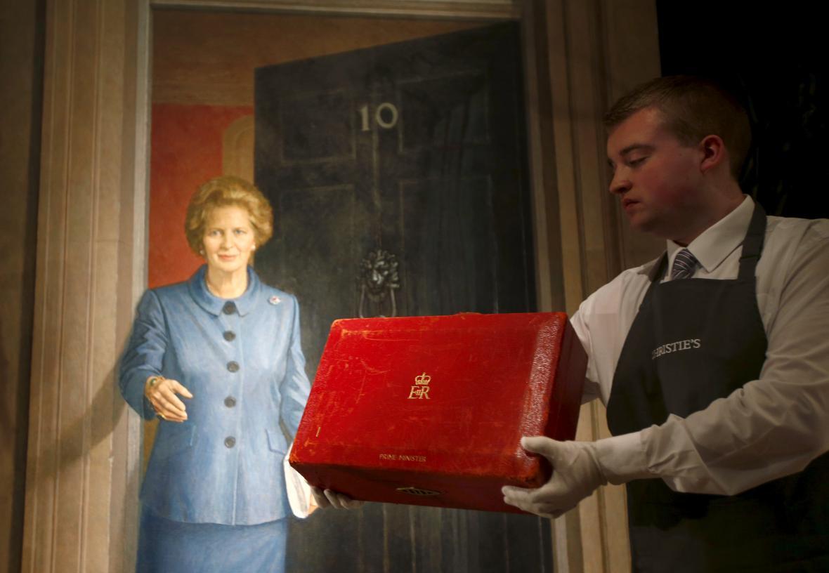Dražba věcí expremiérky Thatcherové