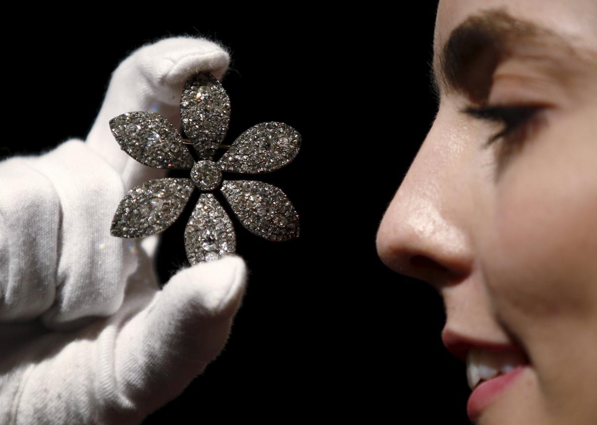 Diamantová brož expremiérky Thatcherové