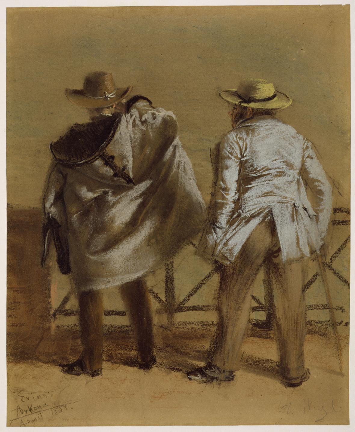 Adolph Menzel / Lázenští hosté u moře, 1851